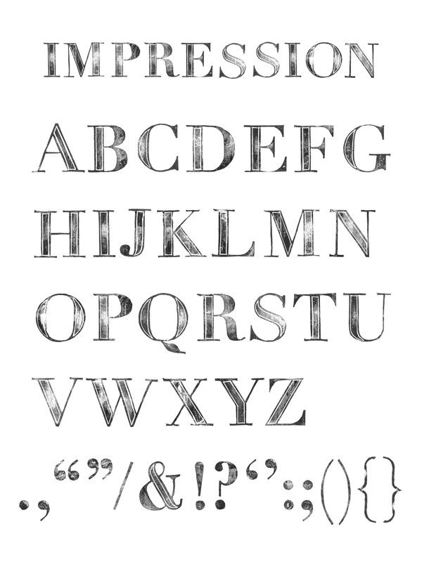 Impression By Jamie Cooper Anderson Via Behance Lettering Alphabet Monogram Alphabet Lettering