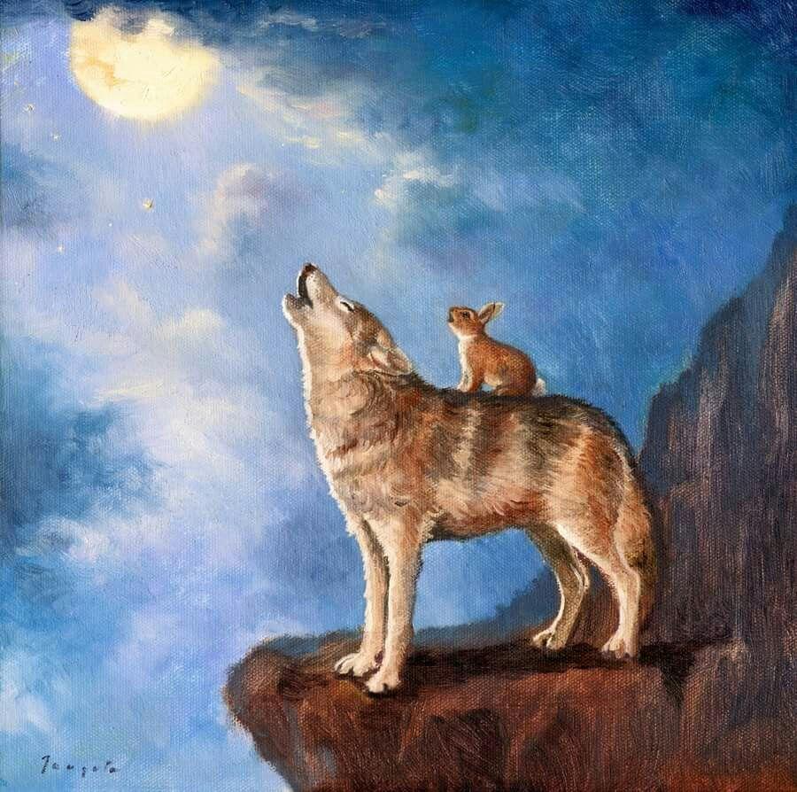 Isabella and the Wolf ~ David Joaquin