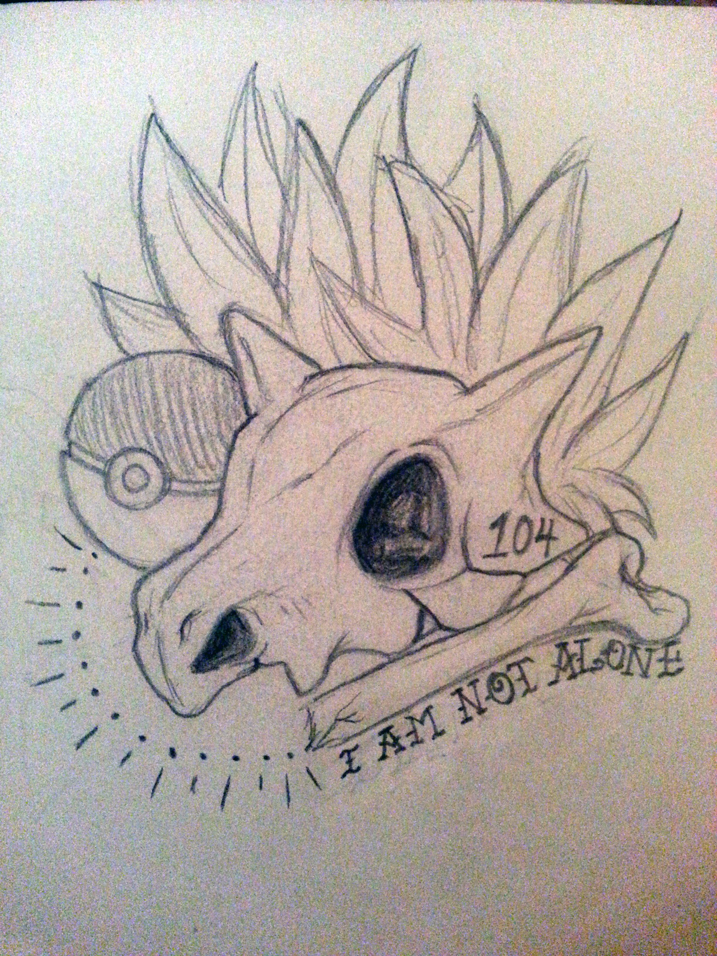 cubone tattoo sketch  ink'd  pinterest  tattoo pokémon