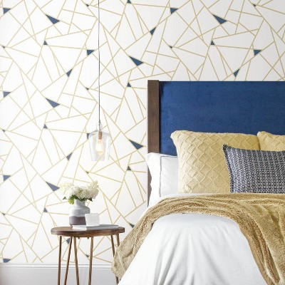 Roommates 28 2 Fracture P S Wallpaper Gold Peel And Stick Wallpaper Wallpaper Roll Room Visualizer