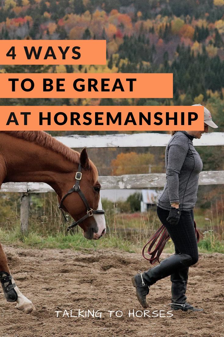 4 Ways You Can Be Great At Horsemanship In 2020 Horses Horsemanship Horse Information