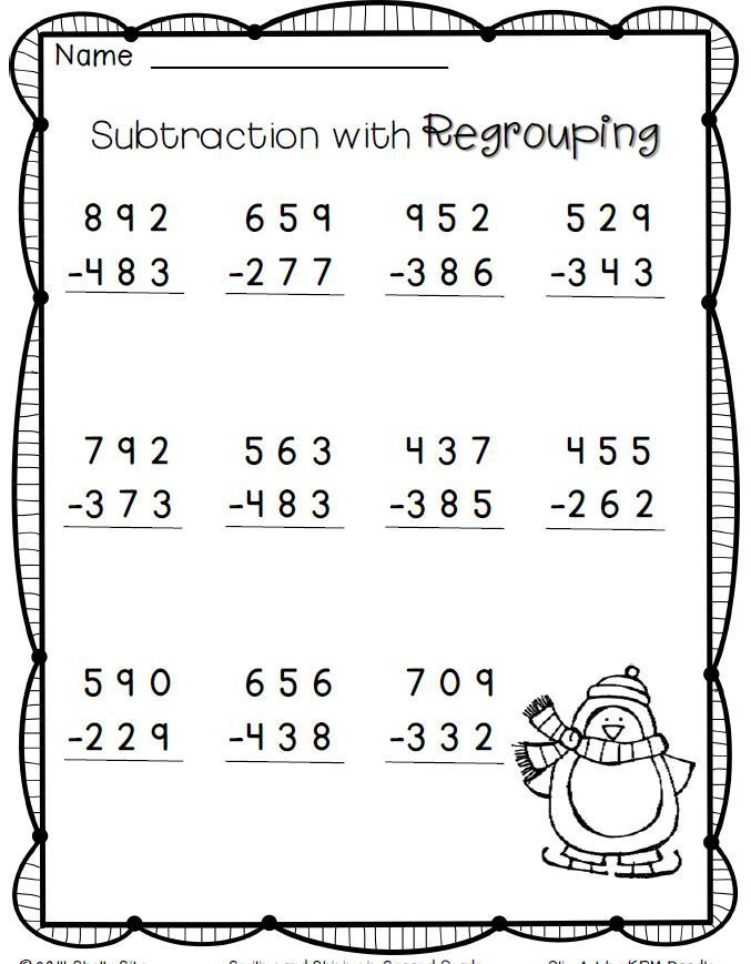 3-digit subtraction---FREE--2nd grade math | Education | Pinterest ...
