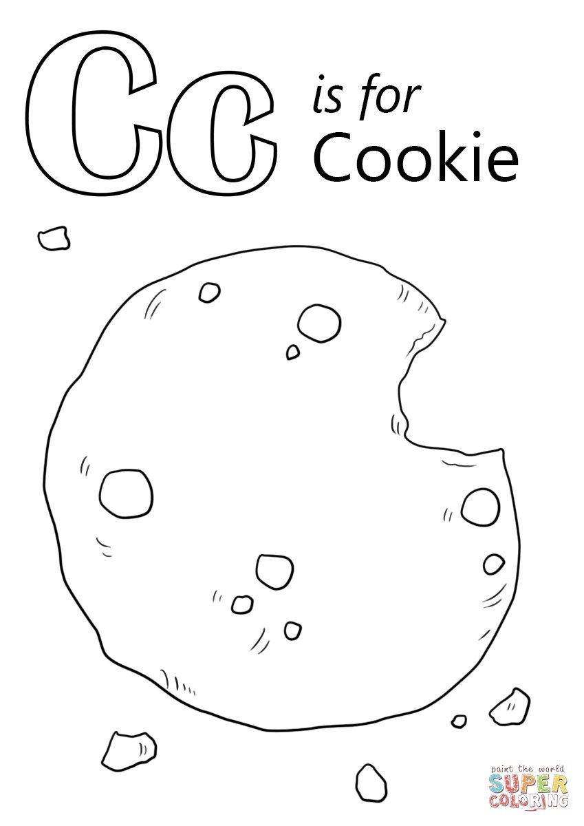 24 Beautiful Photo Of Cookie Coloring Pages Letter C Coloring