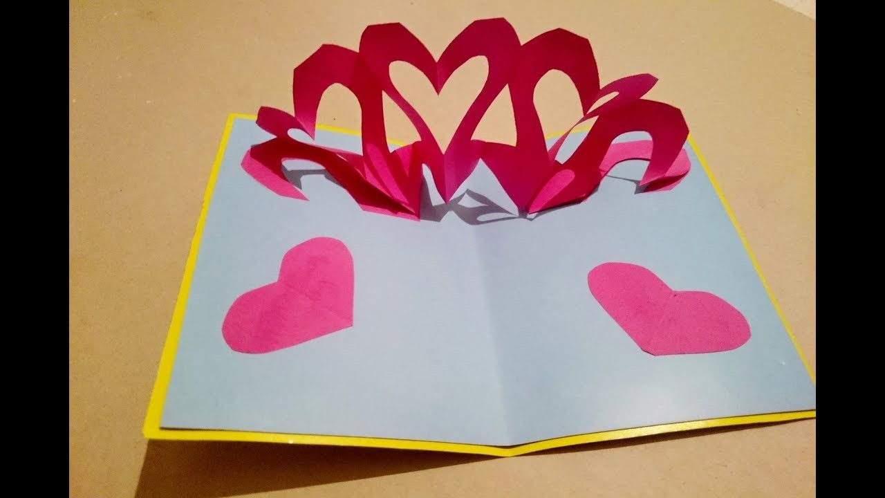 Handmade Popup Cards Diy Heart Pop Up Card For Women S Day Pop