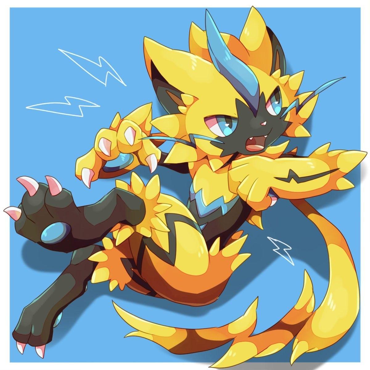 Zeraora By Ktyon3 Pokemon Art Pokemon Coloring Cat Pokemon