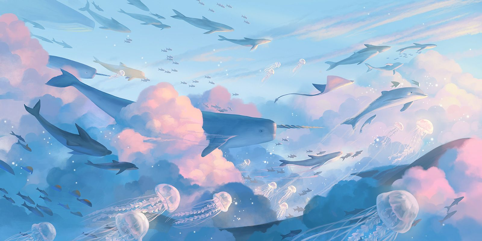 the sea of the sky on Behance Desktop wallpaper art