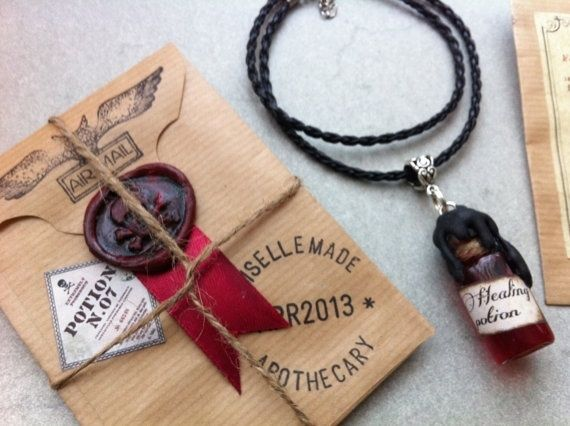 I found 'Healing Potion Necklace - Glass Bottle Pendant with