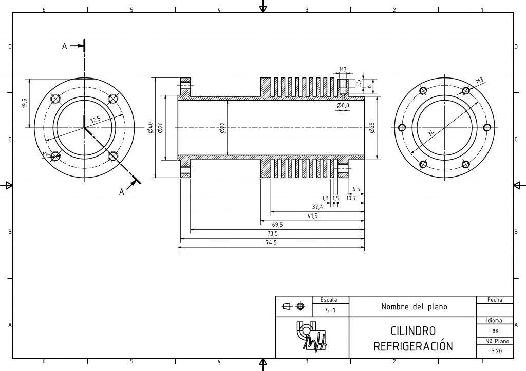 Dibujo Tecnico Conjunto Motor Stirling Motor Stirling Stirling Diseno Mecanico