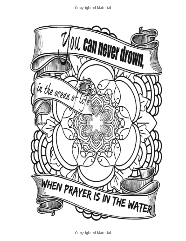 Amazon.com: Words From God\'s Garden: Adult Coloring Book: Religious ...