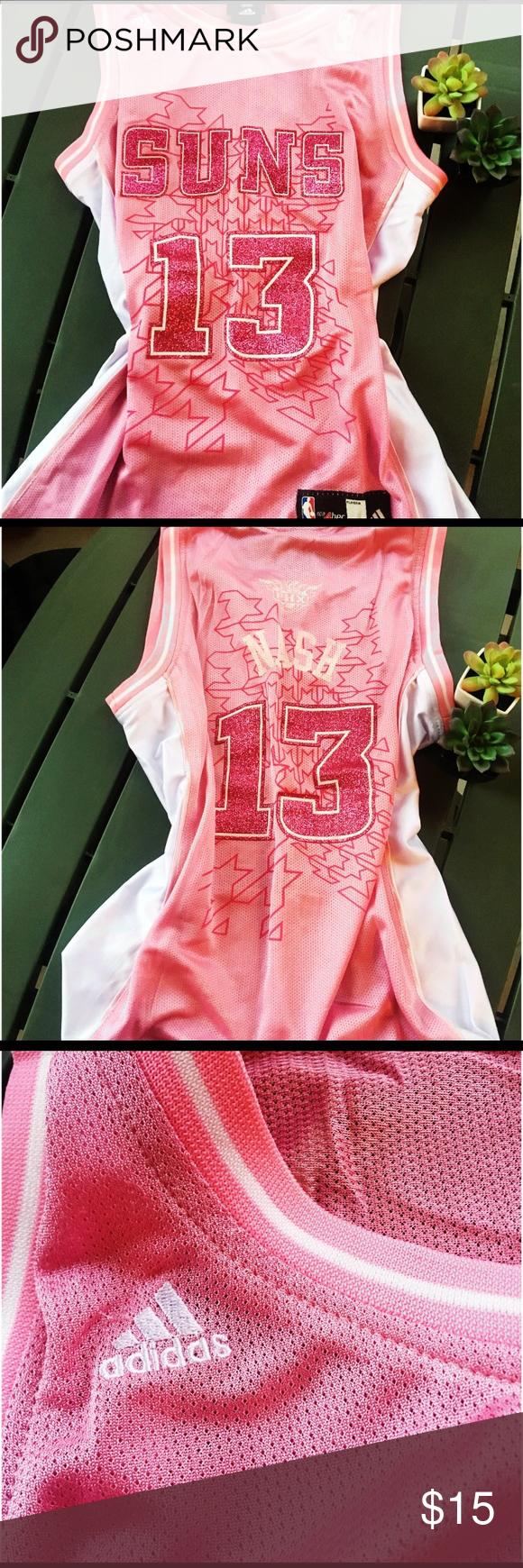 6e3073664cd Phoenix Suns Steve Nash Pink Jersey Adidas Phoenix Suns Steve Nash Women s  Basketball Jersey. Sparkly
