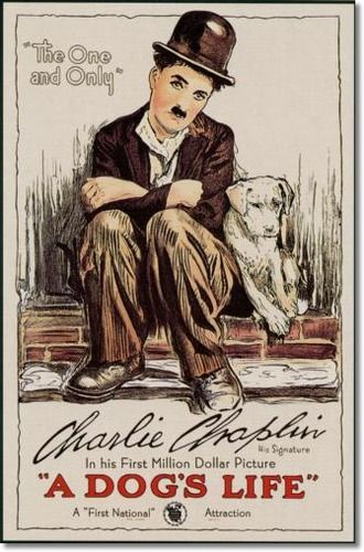 Posters Poster B1168 - Charlie Chaplin - A Dogs Life - Movie Poster