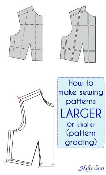 How To Make A Sewing Pattern Bigger Or Smaller Pattern Grading