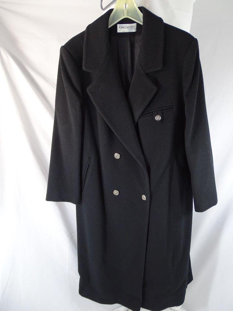 4b030b478f4e8 Forecaster of Boston Women s Size 18 Winter Wool Peacoat Black Beautiful   fashion  clothing