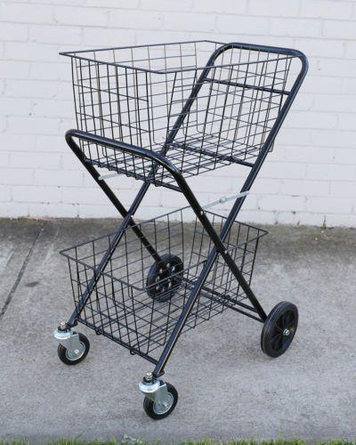 Details About Ping Trolley Double Basket Swivel Wheel