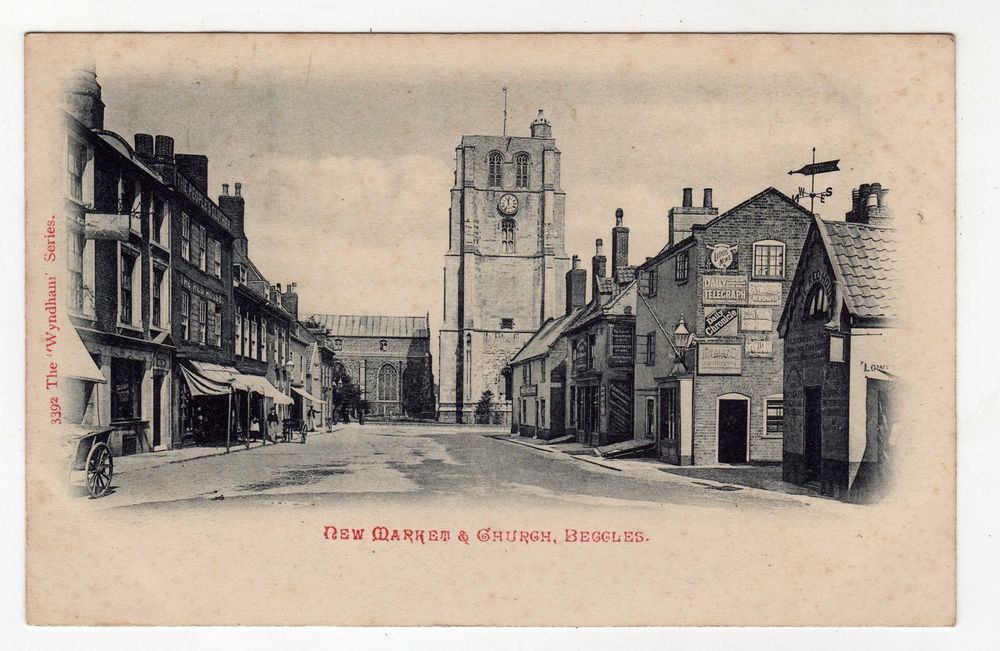 Old postcard of Beccles, Suffolk.