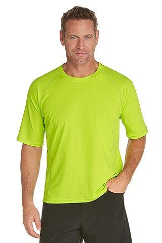 Mens Short Sleeve High Tide Swim Shirt Sun Protective Coolibar UPF 50