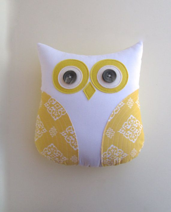 animal pillow owl pillow stuffed owl yellow by whimsysweetwhimsy, $36.00 Daniel James ...