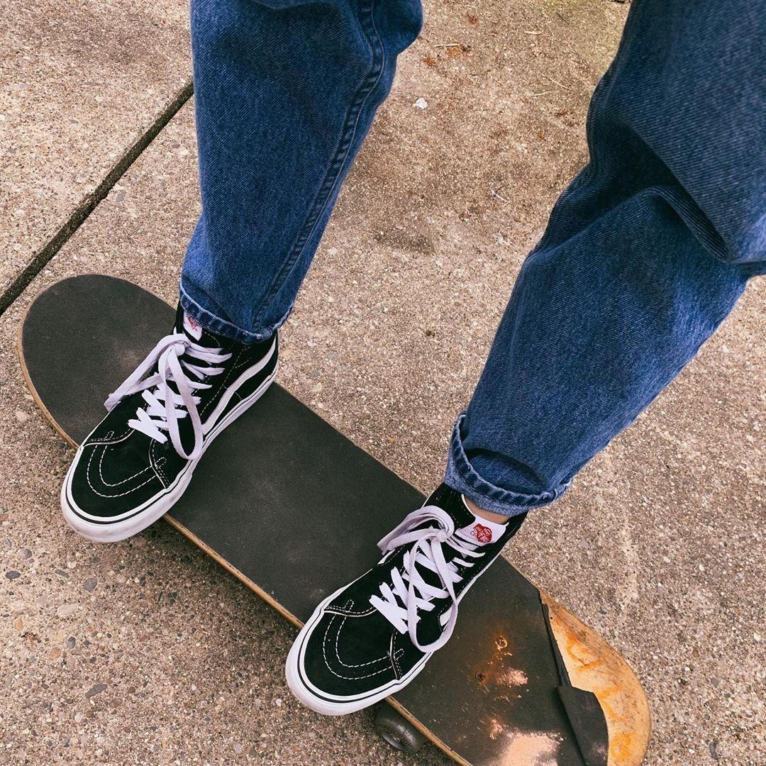 Vans Sk8 Hi Skate Shoe - Black   Vans aesthetic, Vans, Sneakers