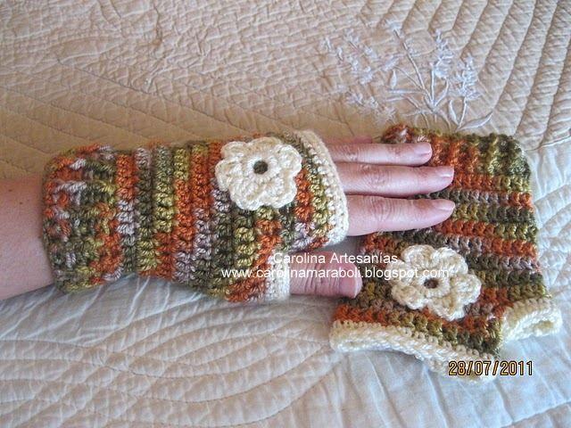 Guantes sin dedos tejidos | Crochet y mas | Pinterest | Crochet ...