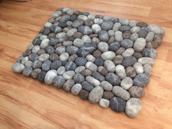 Badezimmerteppich schweiz ~ Felt stone rug bath mat super soft with soft core 3d multicolor