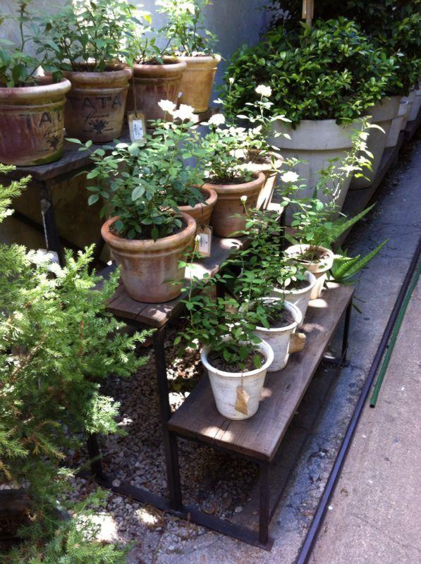 Porta macetas de hierro a medida tipo escalera 4 escalones - Macetas para jardin exterior ...