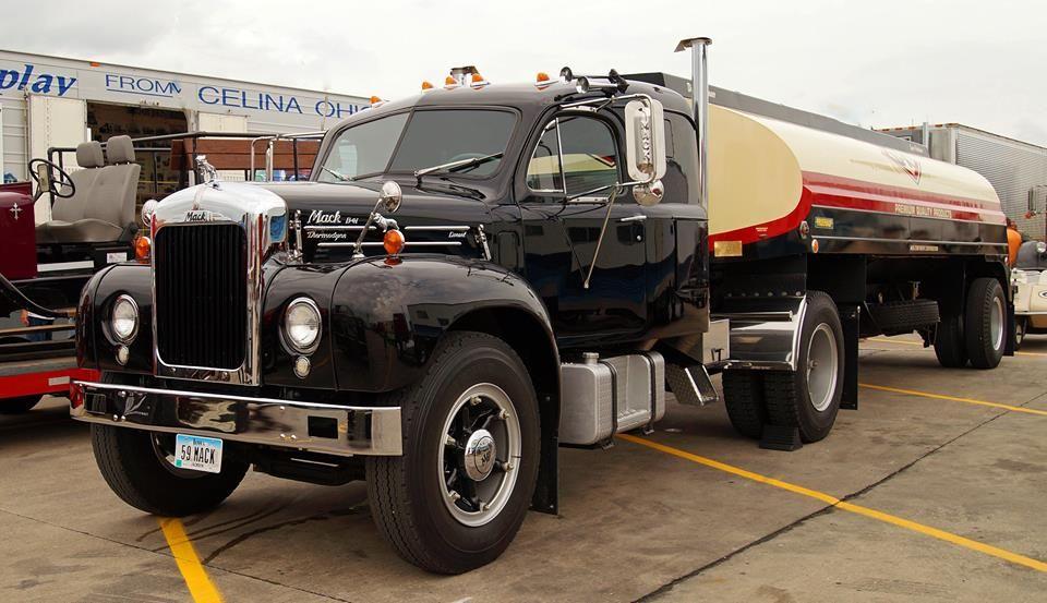 1950 To 1965 Mack Trucks : Mack truck model b  fruehauf tanker fu