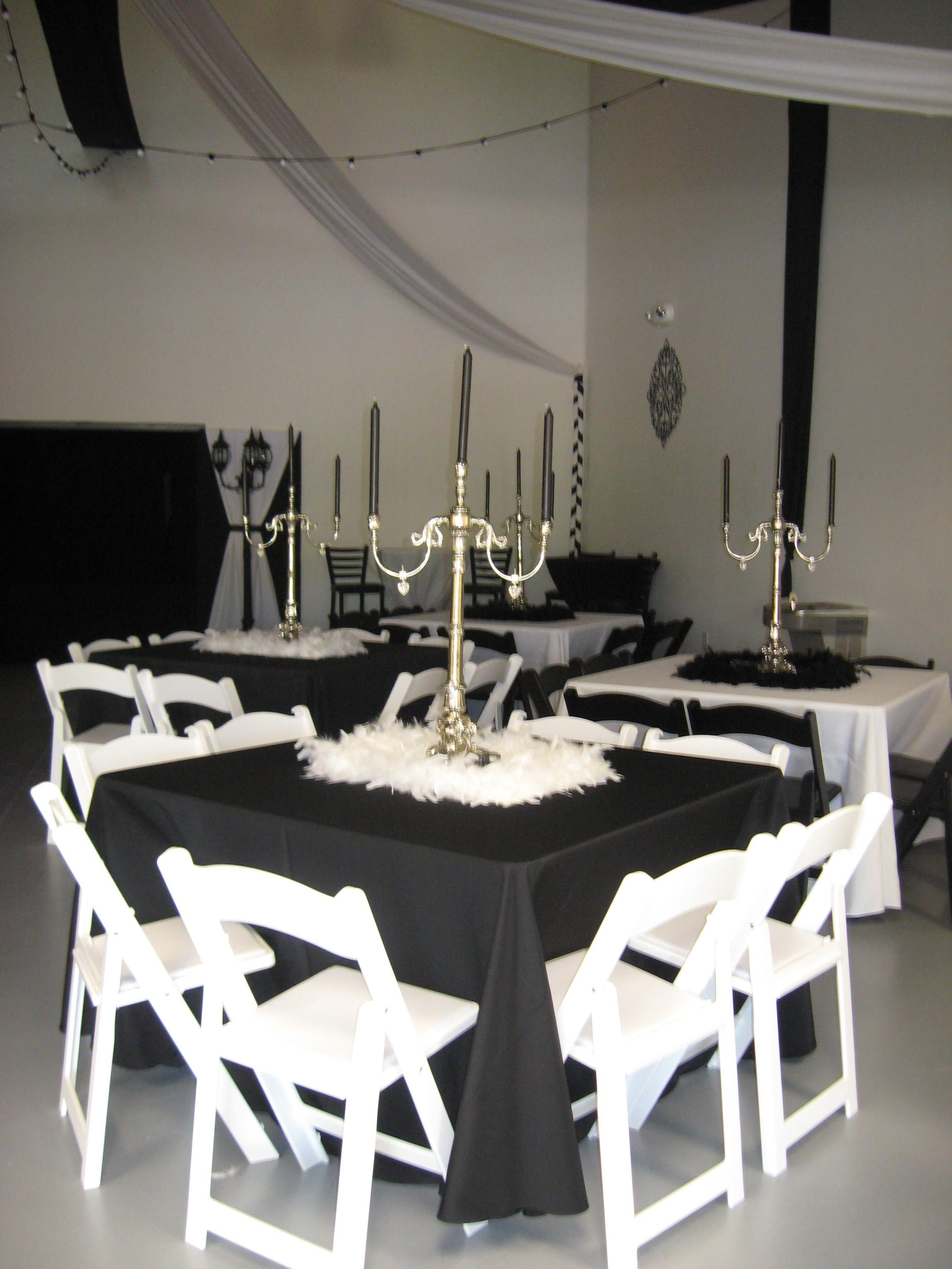 Rental Chairs And Tables Atlanta Rental Black White Resin Chair Table Linen Elegant