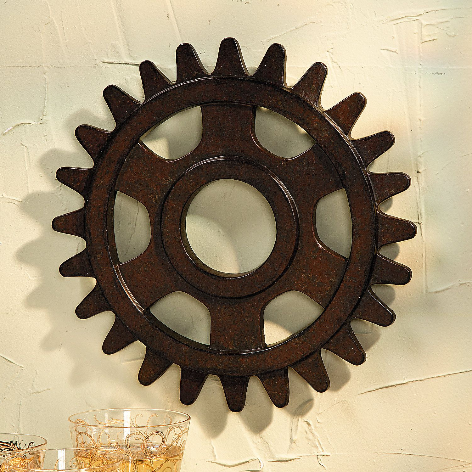 Gear Wall Décor - OrientalTrading.com (Nates room... Paint it maybe...???)
