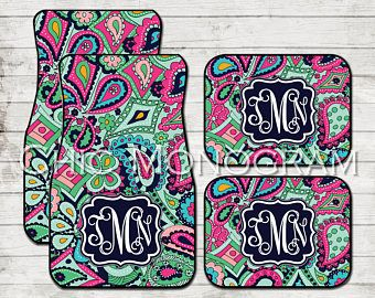 cute car floor mats. Delighful Car Birthday Gifts For Girls Monogram Car Floor Mats Lilly Inspired  Personalized Custom Cute And O