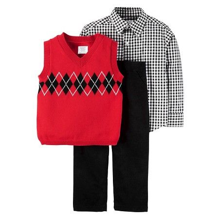 Just One Youmade By Carters Toddler Boys Sweater Vest Set Red