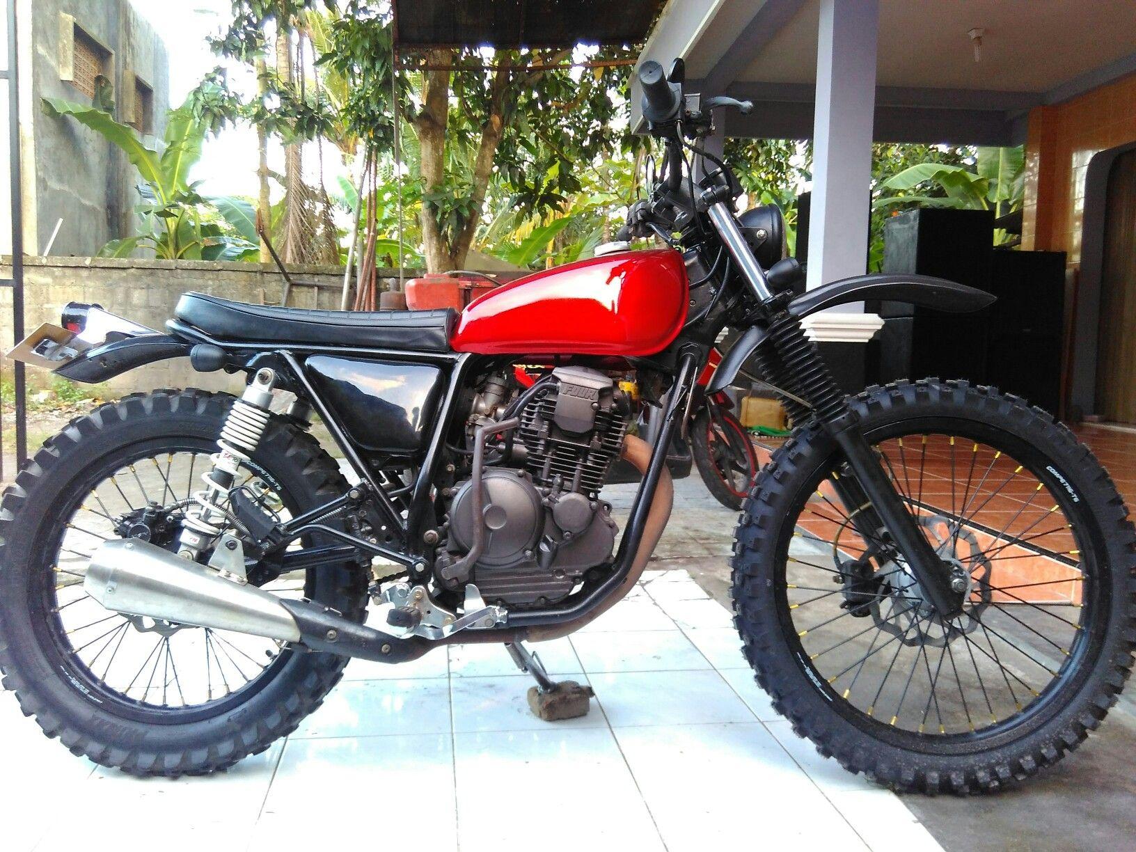 Yamaha Scorpio Scrambler Vintage Dirt Bike 225 Ssx Revo Fit Raving Red Bantul Cafe