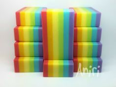 rainbow - cold-process soap