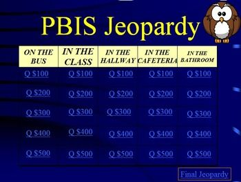 Pbis Jeopardy Character Education Fun  Character Education