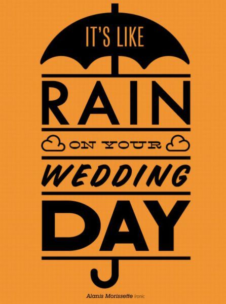 Its Like Rain On Your Wedding Day
