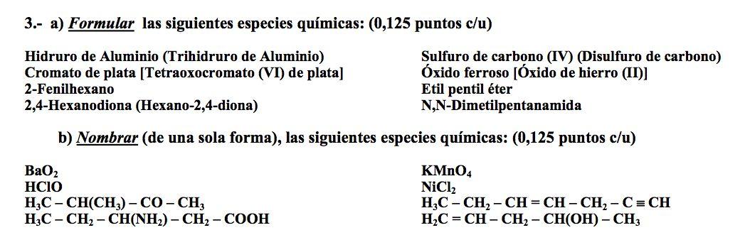 Ejercicio 3, Propuesta 2, Junio 2006-2007. PAU Química de Canarias.