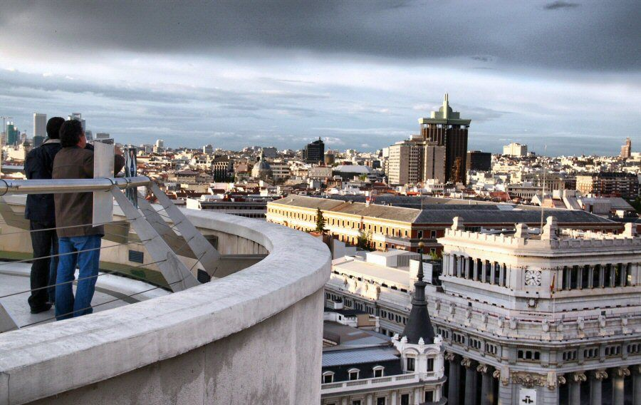 Panoramic Views From The Top Of Circulo De Bellas Artes