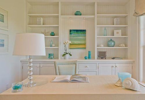 Beach Themed Office Beach Themed Office Home Office Design Home Built In Cabinets