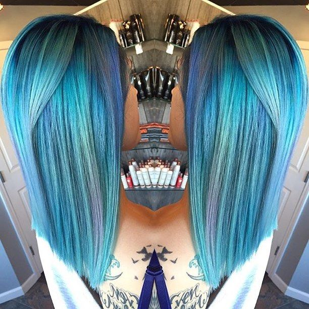 By @salonlift ⚔ Dimensional blue by Helaina