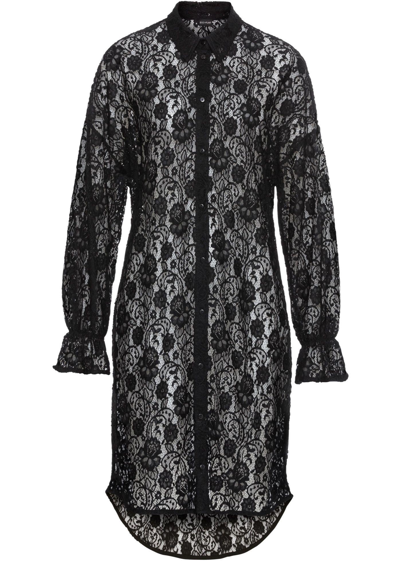 Hemdblusen-Kleid aus Spitze | Blusenkleid, Hemdblusen, Bluse