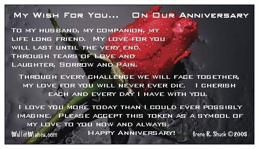 Happy anniversary to my husband nt wait to celebrate our th