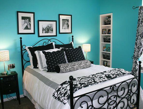 Black White Teal Bedroom Ideas 2 Custom Inspiration