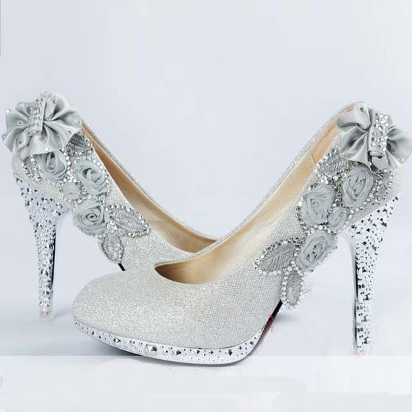 Choose The Perfect Wedding Shoes For Bride | Wedding shoes, Silver ...