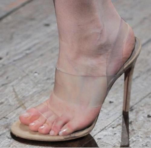 677a7d070e Ladies-Sexy-women-Open-Toes-High-Heels-Transparent-Clear-Mules-Stilettos- Sandals