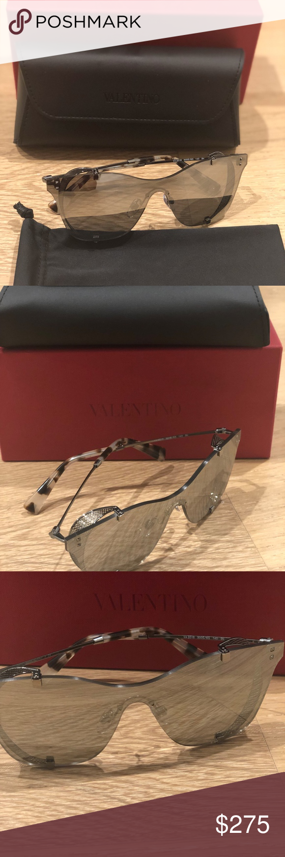 f2632098eced NEW Valentino Square Side-Blinder Sunglasses. Brand New! Never worn ...
