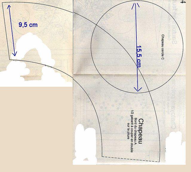 5bb645313692b Chapéu de tecido-molde