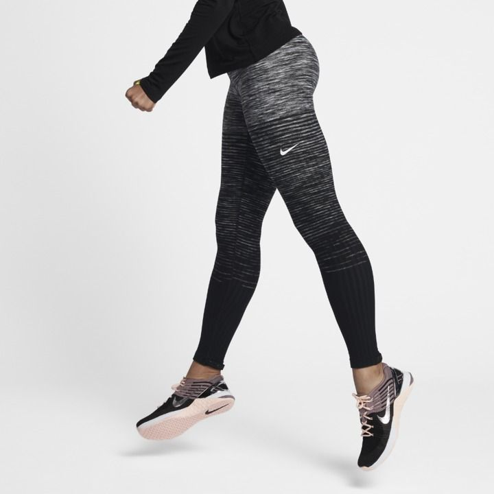 Nike Pro HyperWarm Women's Training Tights White/Black