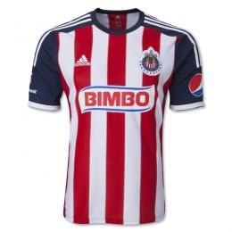 84af8b6eb16 13-14 Deportivo Guadalajara Home Jersey Shirt