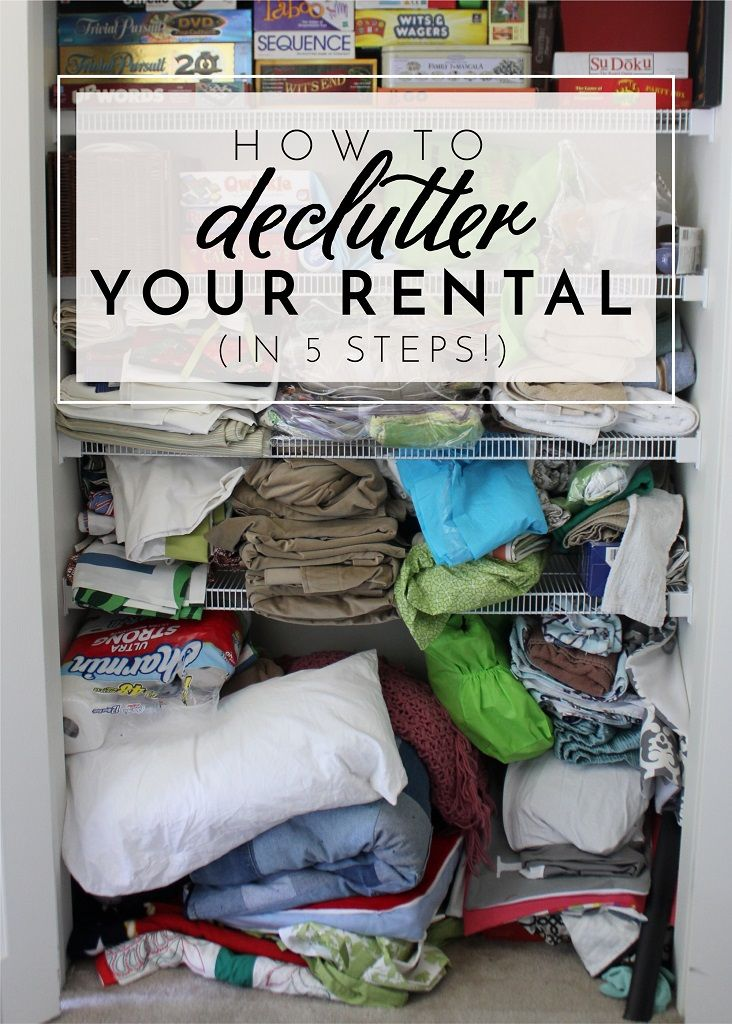 How to Declutter Your Rental (In Just 5 Steps!) Tips ...