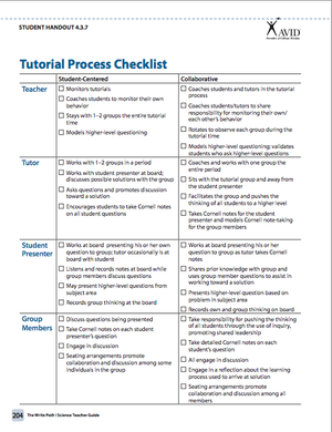 Avid Tutorial Process Checklist  Education Voyager