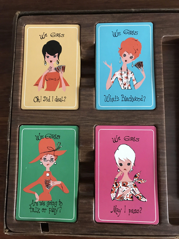 Vintage Bridge Game Set We Girls Bridge Party Pack Etsy Bridge Game Bridge Card Game Bridge Card